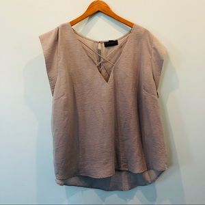 Taupe Forever 21 blouse